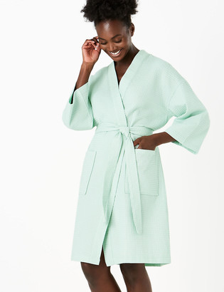 Marks and Spencer Cotton Waffle Dressing Gown