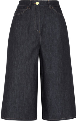 Valentino Cropped High-rise Wide-leg Jeans