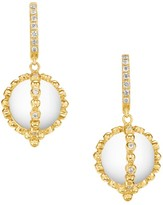 Temple St. Clair Celestial 18K Yellow Gold, Diamond & Crystal Sassini Amulet Earrings