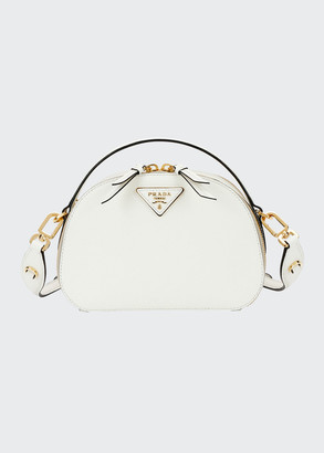 Prada Lux Saffiano Rounded Satchel Bag