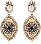 Shourouk Eye Crystal & Pearl Earrings