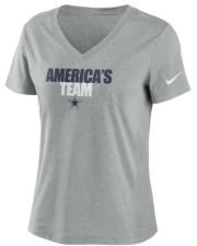 Nike Dallas Cowboys Women's Local Tri-Blend V-neck T-Shirt