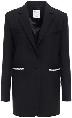Sandro Faux Pearl-embellished Twill Blazer