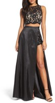Xscape Evenings Women's Lace & Taffeta Two-Piece Gown