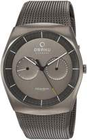 Obaku Men's Quartz Titanium and Stainless Steel Dress Watch, Color: (Model: V176GMTJMJ)