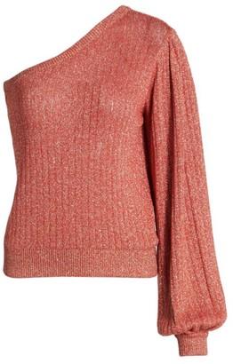 MSGM Metallic One-Shoulder Sweater