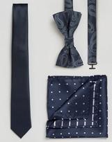Jack and Jones Tie Pocket Square & Bow Tie Set