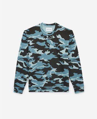 The Kooples Blue camouflage printed cotton sweatshirt