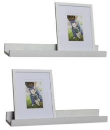 Danya B Set of 2 Ledge Shelves with 2 Photo Frames