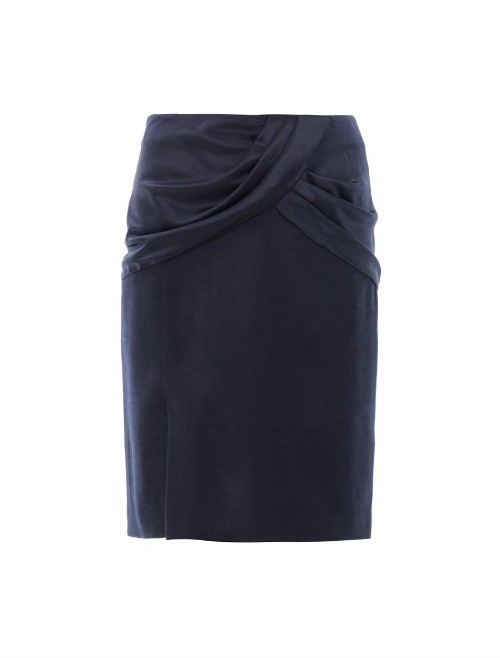 Prabal Gurung Draped silk & wool skirt