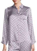 Asceno Check Silk Modern Pajama Top