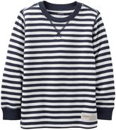 Carter's Striped Thermal (Baby) - Blue-3 Months