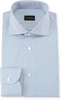 Ermenegildo Zegna Men's Multi-Stripe Cotton Dress Shirt, Royal Blue