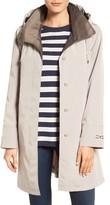 Gallery Women's Two-Tone Silk Look A-Line Raincoat