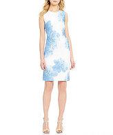 Calvin Klein Petite Allover Floral Scuba Dress