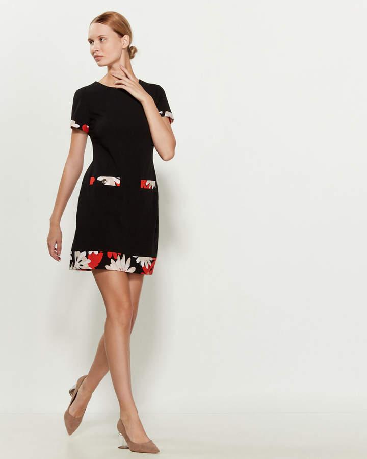 Tommy Hilfiger Floral Trim Sheath Dress