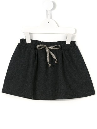 Babe And Tess Drawstring Houndstooth Skirt