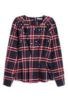 H&M Beaded Flannel Blouse