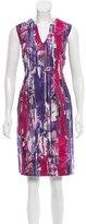 Piazza Sempione Digital Print Sheath Dress