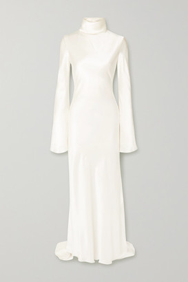 Ellery Silk-satin Turtleneck Gown - Ivory