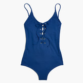 Madewell Tavik® Monahan Lace-Up One-Piece Swimsuit
