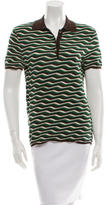 Prada Patterned Knit Polo Top