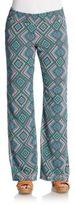 Saks Fifth Avenue RED Geometric-Print Pants