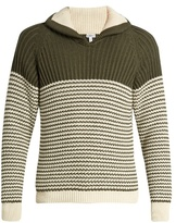 Loewe Shawl-collar cotton-blend sweater