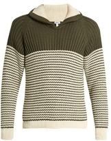 Loewe Shawl-collar Cotton-blend Sweater