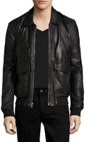 BLK DNM Leather Zip Jacket