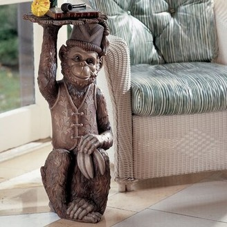 Toscano Design Moroccan Monkey Butler Sculptural End Table Design