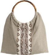 Maya Bags Organic Linen Shopper- Brown