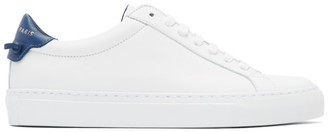 Givenchy White and Blue Urban Street Sneakers