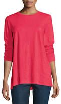 Eileen Fisher Long-Sleeve Slubby Organic Cotton Jersey Top