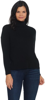 Laurie Felt Cashmere Blend Mock-Neck Long-Sleeve Sweater