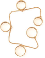 Eddie Borgo Five-Finger Ring, Rose Golden