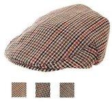 Hawkins mens tweed flat cap country hat shoot gent mans quality wool peak 58 59 60 61