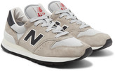 New Balance 995 Suede And Mesh Sneakers - Cream