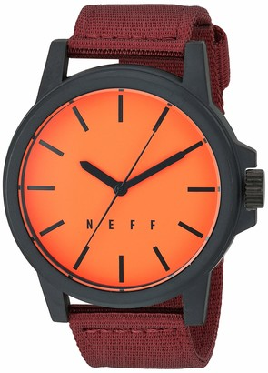 Neff Men's Analog-Quartz Sport Watch with Stainless-Steel Strap Multi 22 (Model: NF0242-1)