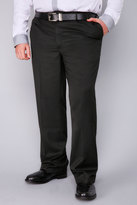 Yours Clothing BadRhino Black Single Pleat Formal Trouser
