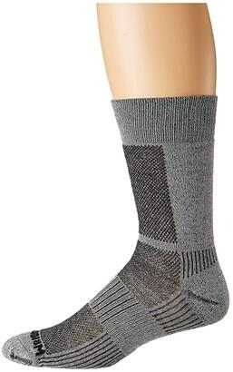 Wrightsock Merino Coolmesh II Crew (Grey/Smoke) Crew Cut Socks Shoes