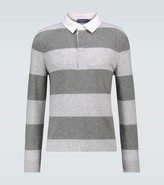 Thumbnail for your product : Ralph Lauren Purple Label Cashmere rugby polo sweater
