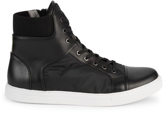 Kenneth Cole New York Ribbed Cuffs High-Top Sneakers