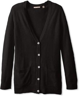 Cashmere Addiction Women's Button Down Boyfriend Cardigan Sweater
