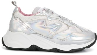 MSGM holographic Attack low-top sneakers