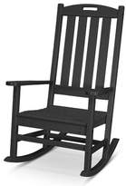 Polywood Nautical Rocking Chair Color: Black
