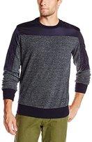Jet Lag Men's Crew-Neck Double Zipper Pullover Sweatshirt