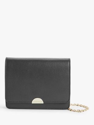 Coccinelle Half Mini Leather Shoulder Bag, Noir
