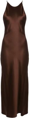 Rosetta Getty Satin Slip Dress