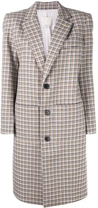Tibi Zio plaid coat
